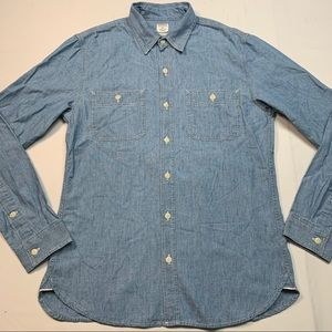 Bonobos Japanese chambray light speckled shirt